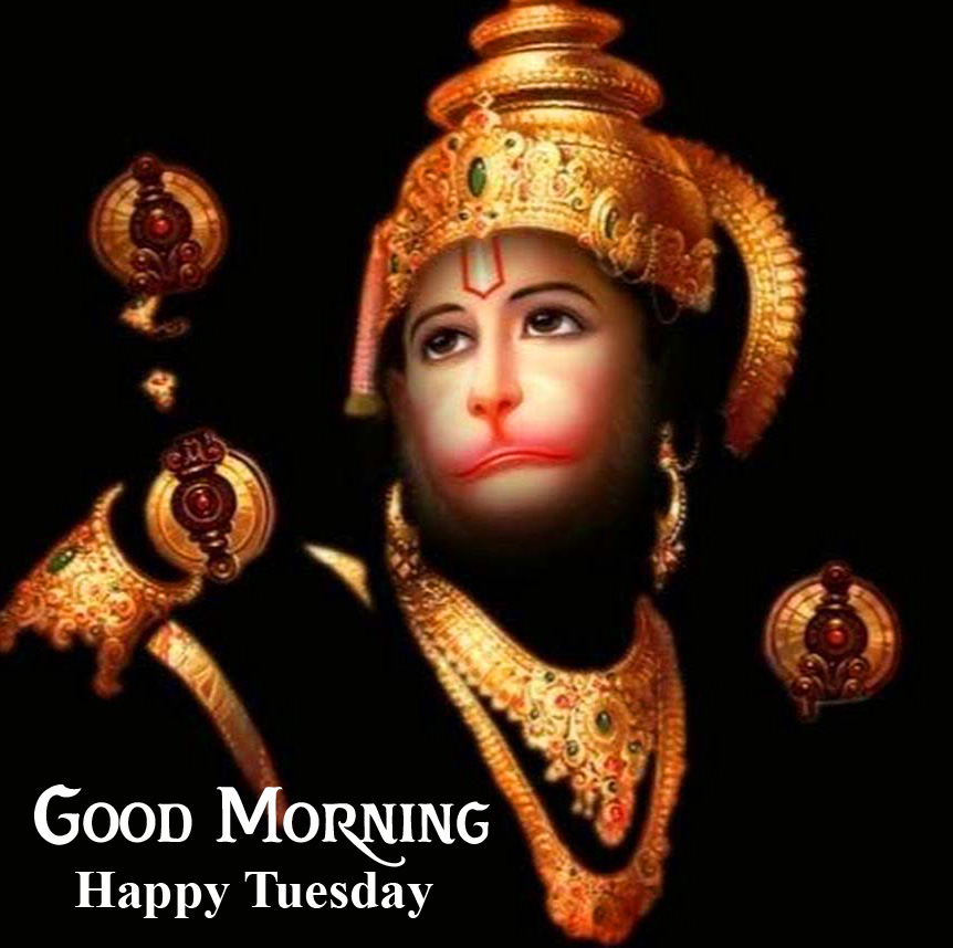 Cute Hanuman Ji Good Morning Happy Tuesday Image