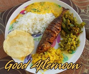 Fish Lunch Good Afternoon Image