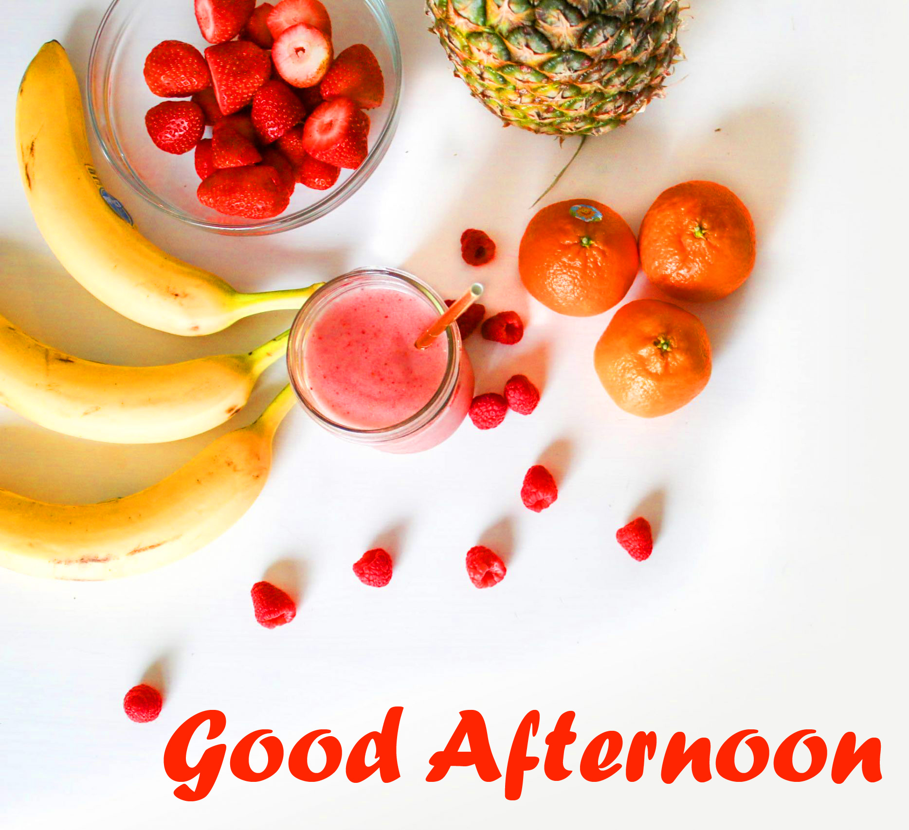 Fruits Lunch Good Afternoon Wallpaper