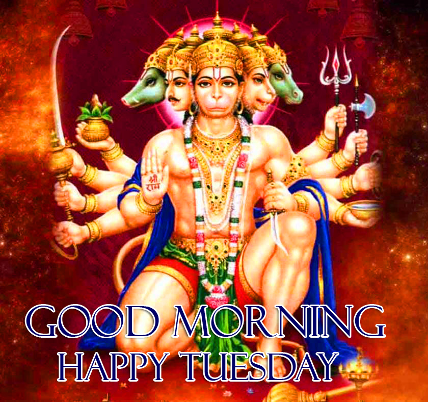 God Hanuman Ji Good Morning Happy Tuesday Picture