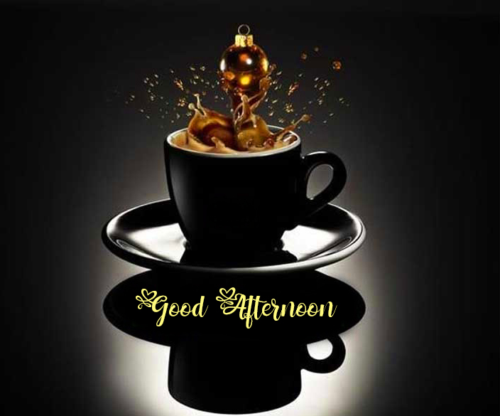Good Afternoon Images Photo with Coffee Cup