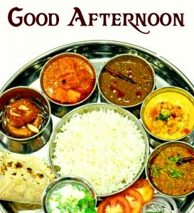 Good Afternoon Indian Lunch Image