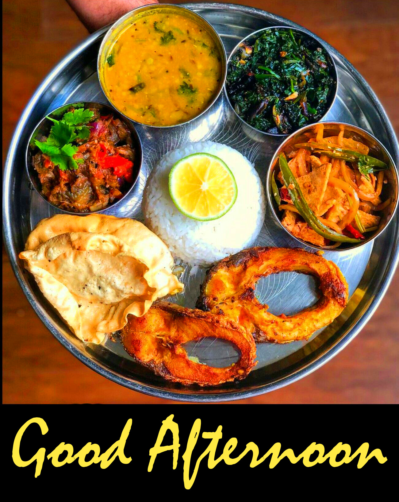 Good Afternoon Non Veg Fish Lunch Image