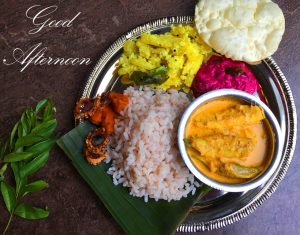 Good Afternoon Wish with Indian Lunch