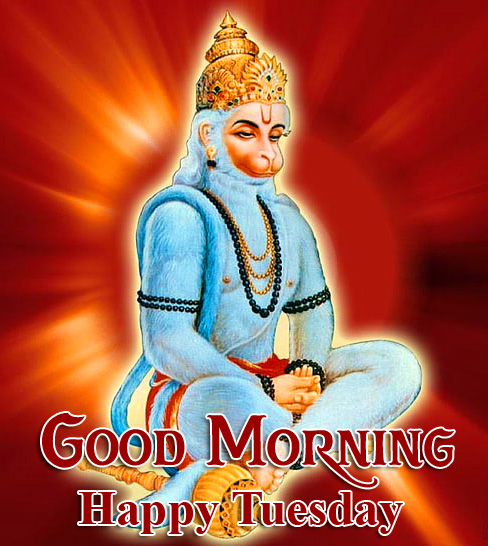 Good Morning Happy Tuesday God Hanuman Ji Image