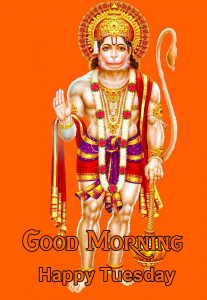 Good Morning Happy Tuesday Hanuman Ji HD Wallpaper