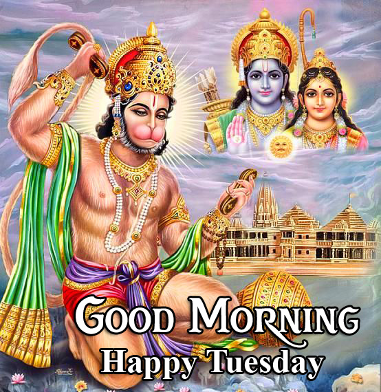 Good Morning Happy Tuesday Latest Hanuman Ji Image