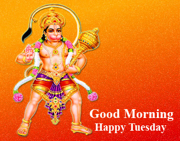 Good Morning Happy Tuesday Latest and Beautiful Hanuman Ji Pic
