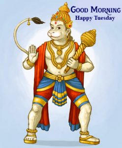 HD Hanuman Ji Good Morning Happy Tuesday Photo