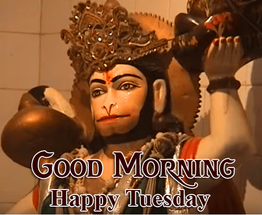 HD Latest Hanuman Ji Good Morning Happy Tuesday Image