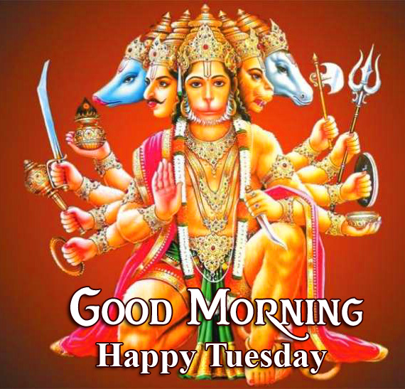 Hanuman Good Morning Happy Tuesday Pic