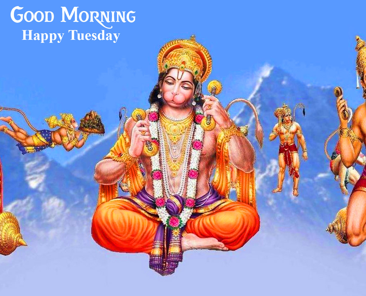 Hanuman Good Morning Happy Tuesday Wallpaper