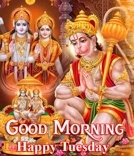 Hanuman Ji Good Morning Happy Tuesday Wallpaper