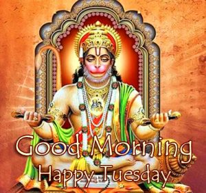Hanuman Ji HD Good Morning Happy Tuesday Wallpaper