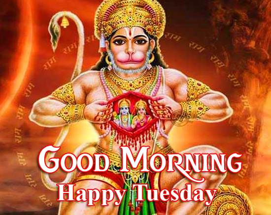 Hanuman Ji Latest Good Morning Happy Tuesday Image