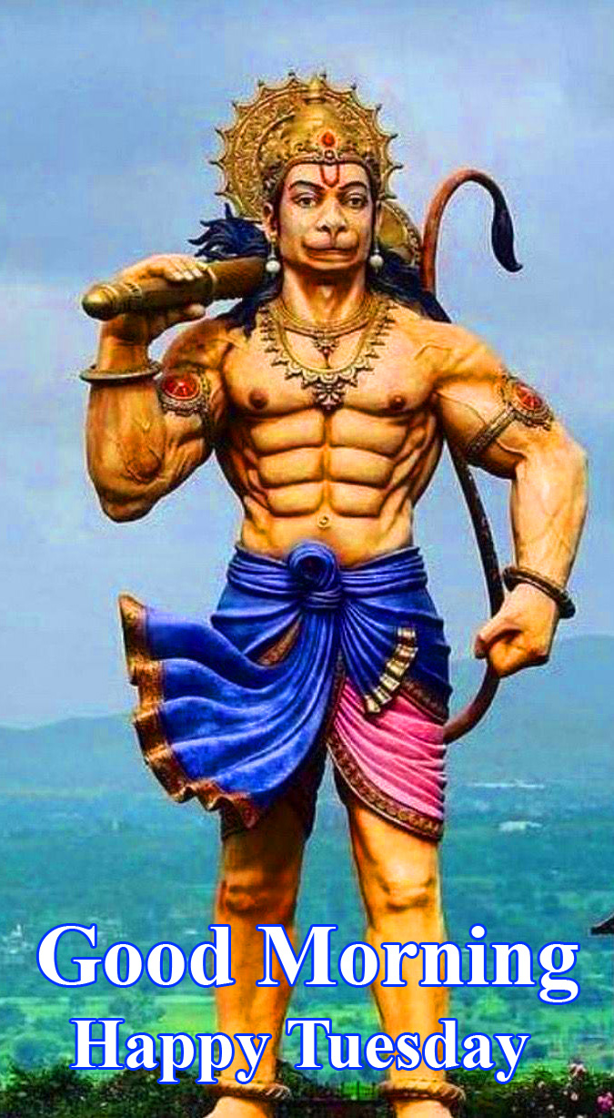 Latest Bajrangbali Good Morning Happy Tuesday Image
