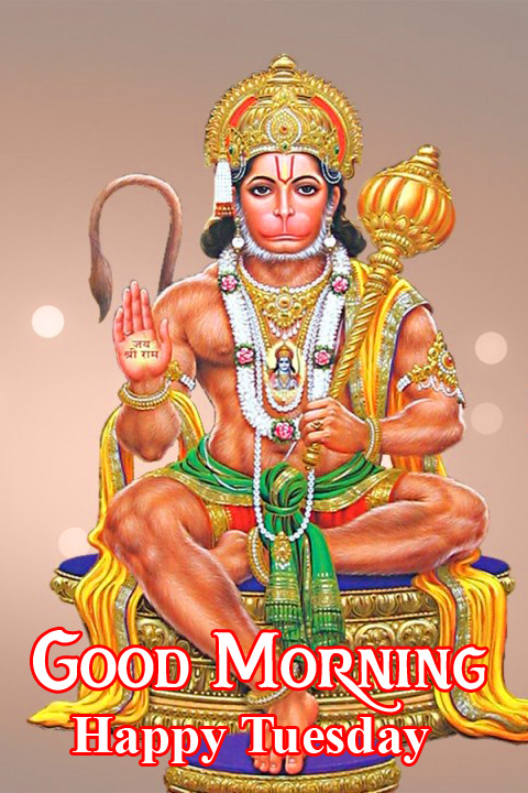 Latest God Hanuman Ji Good Morning Happy Tuesday Image