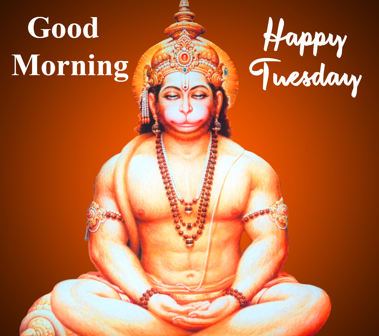Latest HD Hanuman Ji Good Morning Happy Tuesday Image