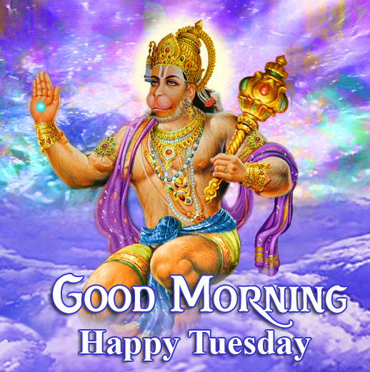 Latest Hanuman Ji Beautiful Good Morning Happy Tuesday Image
