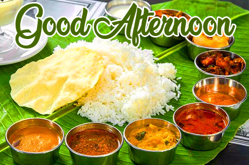 Latest South Indian Lunch Good Afternoon Image