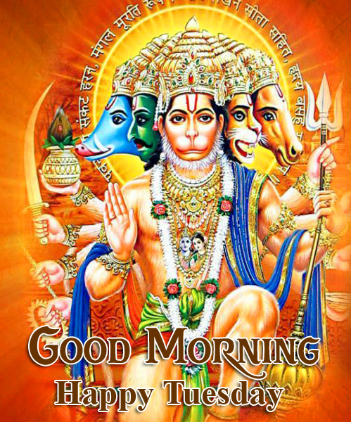 Latest and Best Hanuman Ji Good Morning Happy Tuesday Image