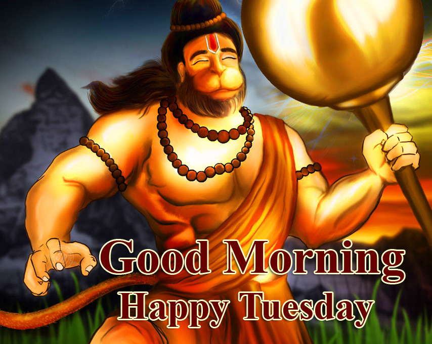 Lord Hanuman Ji Good Morning Happy Tuesday HD Picture