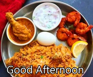 Non Veg Lunch Good Afternoon Image