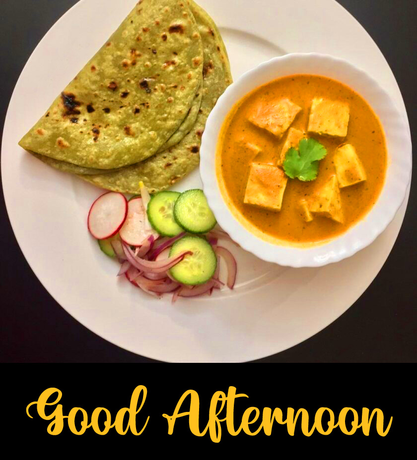 Paneer Lunch Good Afternoon Image HD
