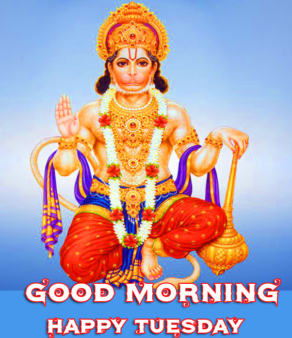 Shri Hanuman Good Morning Happy Tuesday Pic