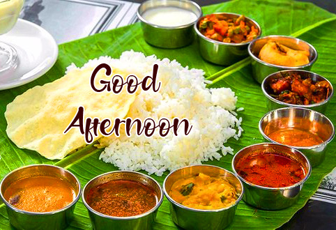 South Indian Lunch Good Afternoon Image