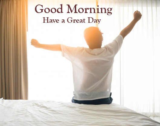 Waking Up Boy Good Morning Have a Great Day Photo