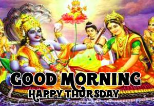Good Morning Happy Thursday vishnu ji hd photo