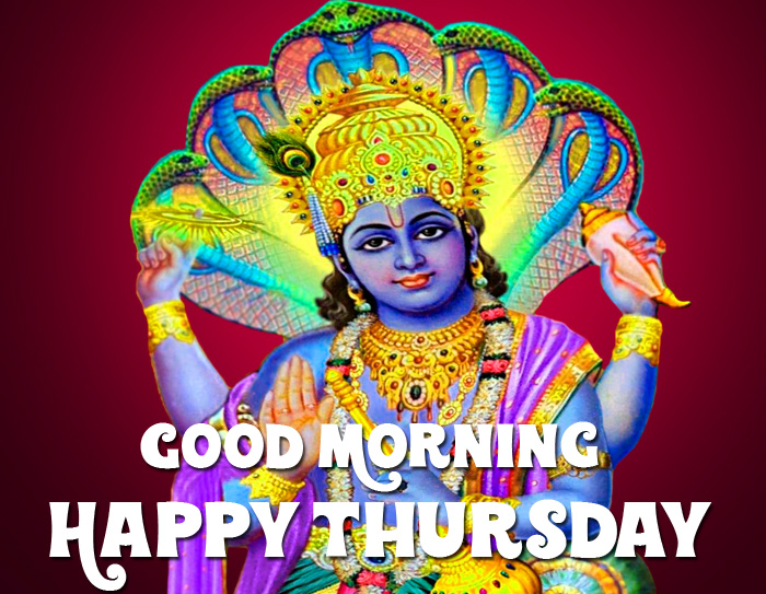 Good Morning Happy Thursday vishnu ji hd wallpaper