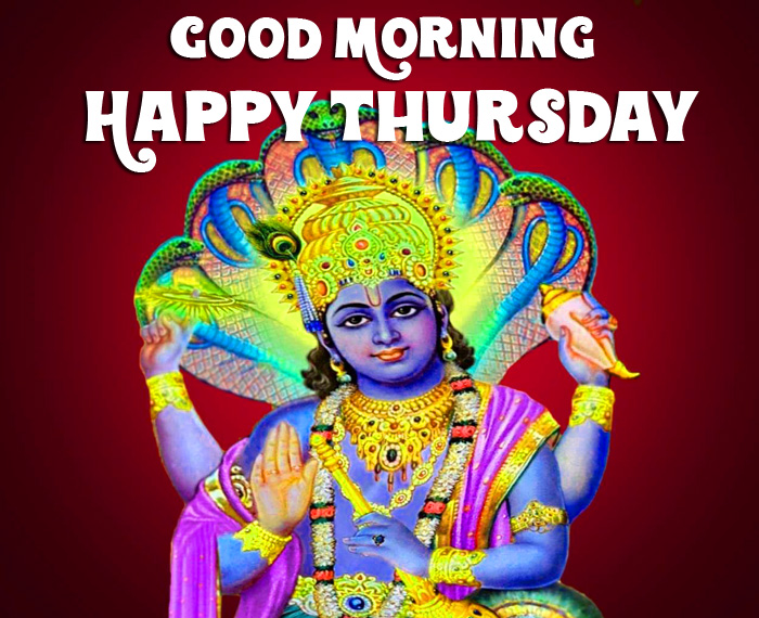 Good Morning Happy Thursday vishnu ji wallpaper