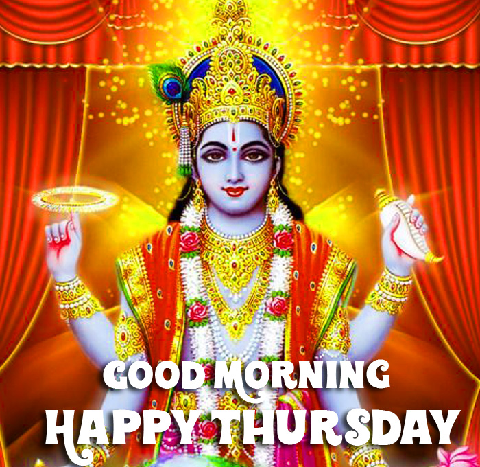 best new Good Morning Happy Thursday vishnu ji images