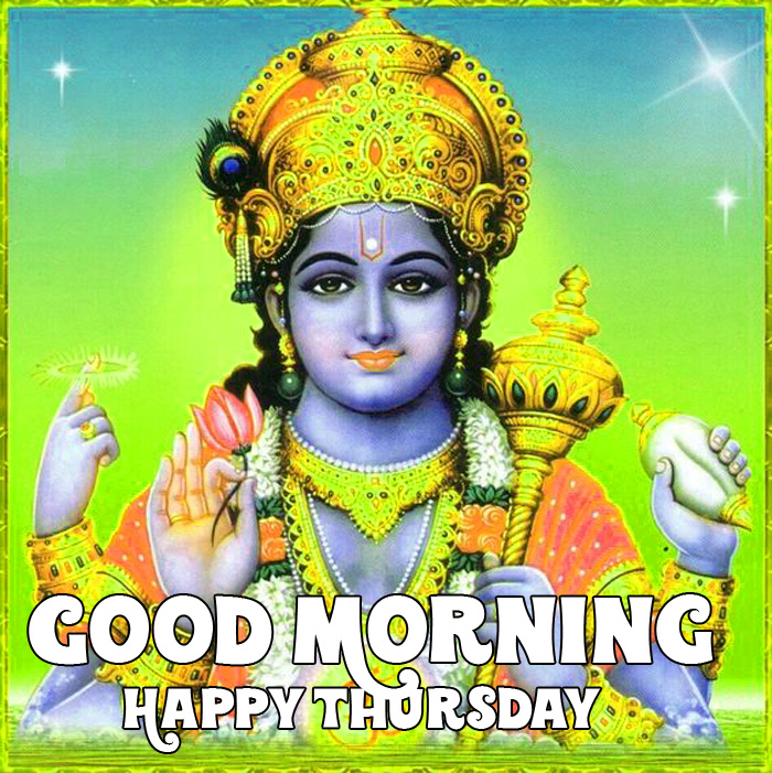 hindu god Good Morning Happy Thursday vishnu ji images hd