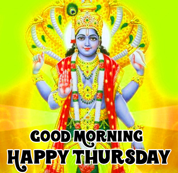 latest Good Morning Happy Thursday vishnu ji hd wallpaper