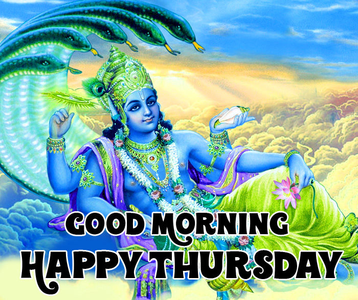 latest new Good Morning Happy Thursday vishnu ji hd