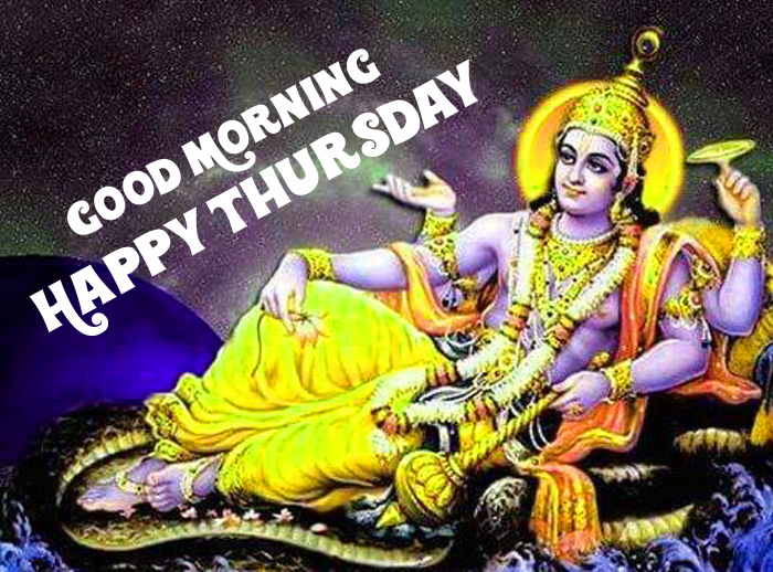 new Good Morning Happy Thursday vishnu ji images hd
