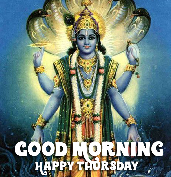 new bhagwan Good Morning Happy Thursday vishnu ji hd wallpaper