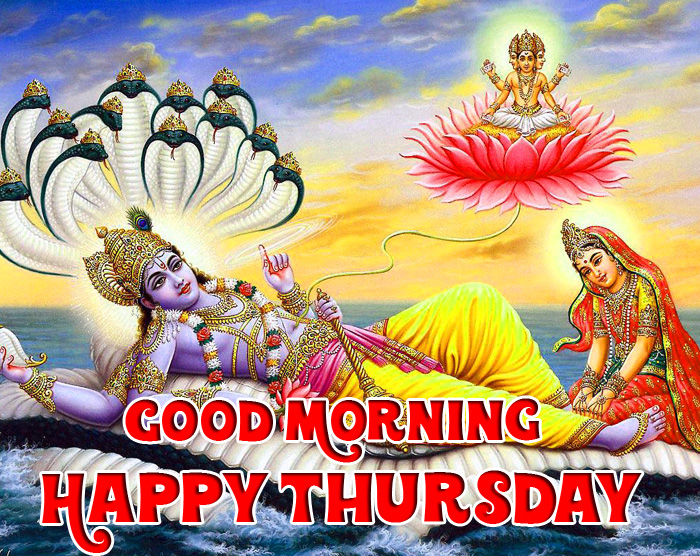 nice lord Good Morning Happy Thursday vishnu ji images hd