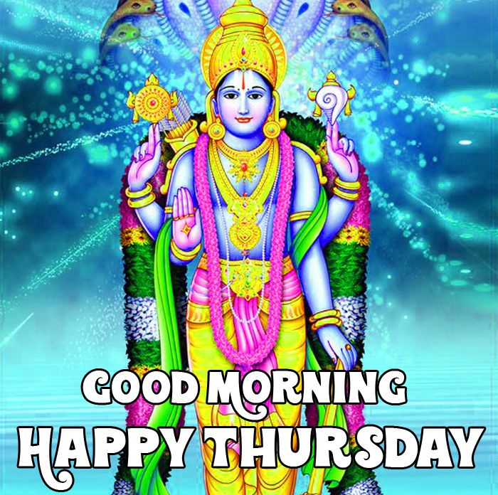 nice new Good Morning Happy Thursday vishnu ji hd wallpaper