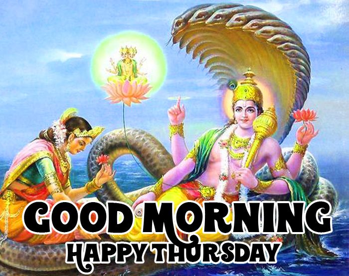 vishnu ji Good Morning Happy Thursday hd wallpaper